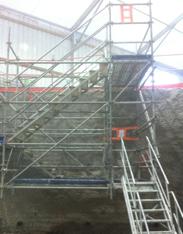 Escalier d'accès à la fouille P3