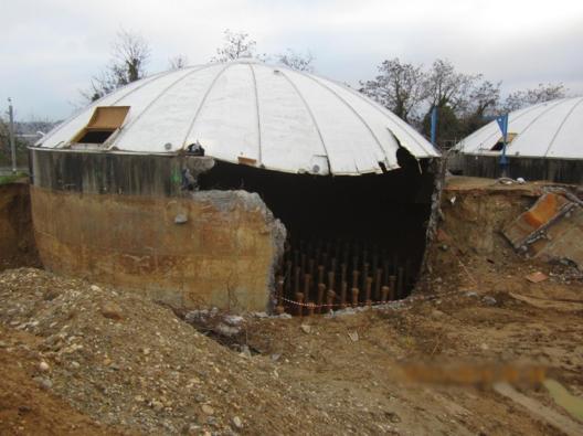 Ouverture d'un bassin de la station d'épuration
