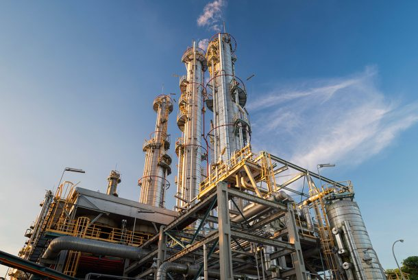 Arrêt technique usine pétrochimique-aromatiques